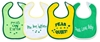 "Picture of ""Sayings"" Bibs (Medium) - Peas Series - 4 pack"