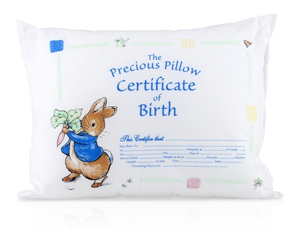 Picture of Beatrix Potter™ Peter Rabbit™ Precious Pillow Certificate of Birth